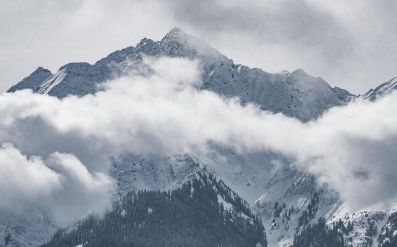 mountains in laax flims switzerland