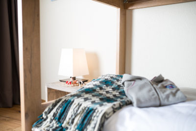 Stockbett für Kinder im Apartment im Peaks Place Aparthotel in Laax