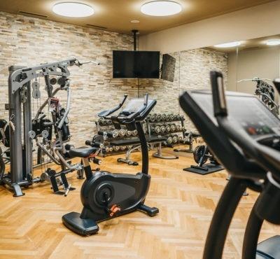 Training von Kondition und Fitness in Laax Flims im Peaks Place mit Fitnessgeräten