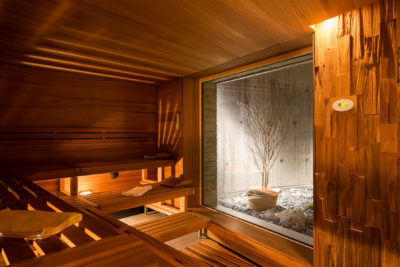 Bio Sauna La Senda Peaks Place Wellness und Spa Flims Laax