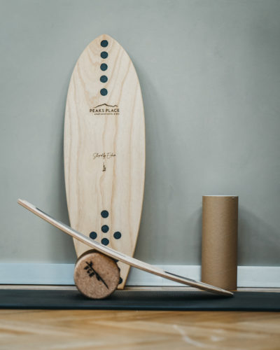 Enlain Balance Board im Fitness- und Kraftraum im La Senda Spa und Wellness Peaks Place laax