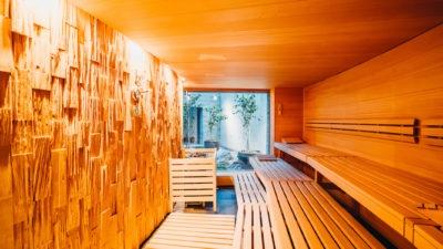 Finnische Sauna (90°) im Spa La Senda im Peaks Place, Wellnesshotel Flims Laax
