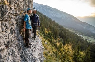 Klettersteig Pinut Laax