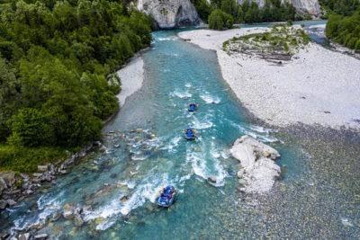 Rafting in Flims im Sommer