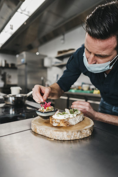 Koch Pascal Schmutz im Restaurant snani in Laax