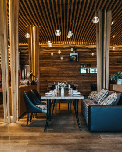 Innenraum im Restaurant snani Laax