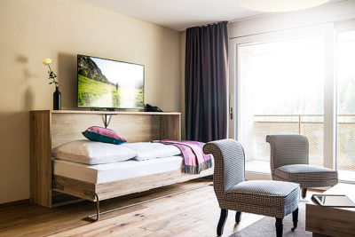 Wohnzimmer 2.5-Zimmer-Apartment Peaks Place Laax