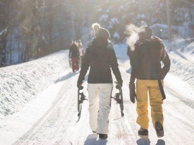 Schneeschuhlaufen und Winterurlaub in Laax